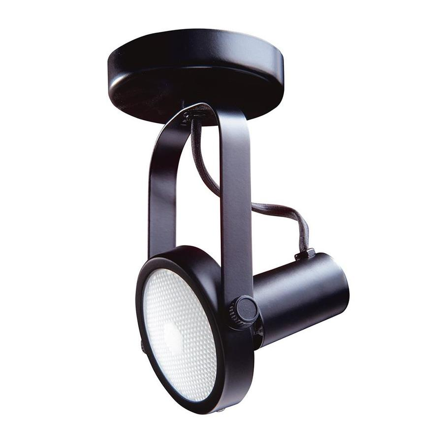 Kendal Lighting 4-in Black Flush Mount Fixed Track Light Kit