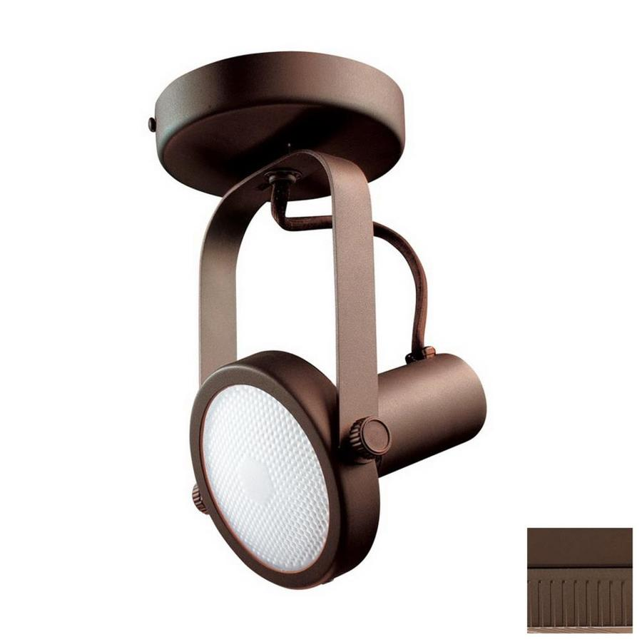 Kendal Lighting 4-in Oil-Rubbed Bronze Flush Mount Fixed Track Light Kit