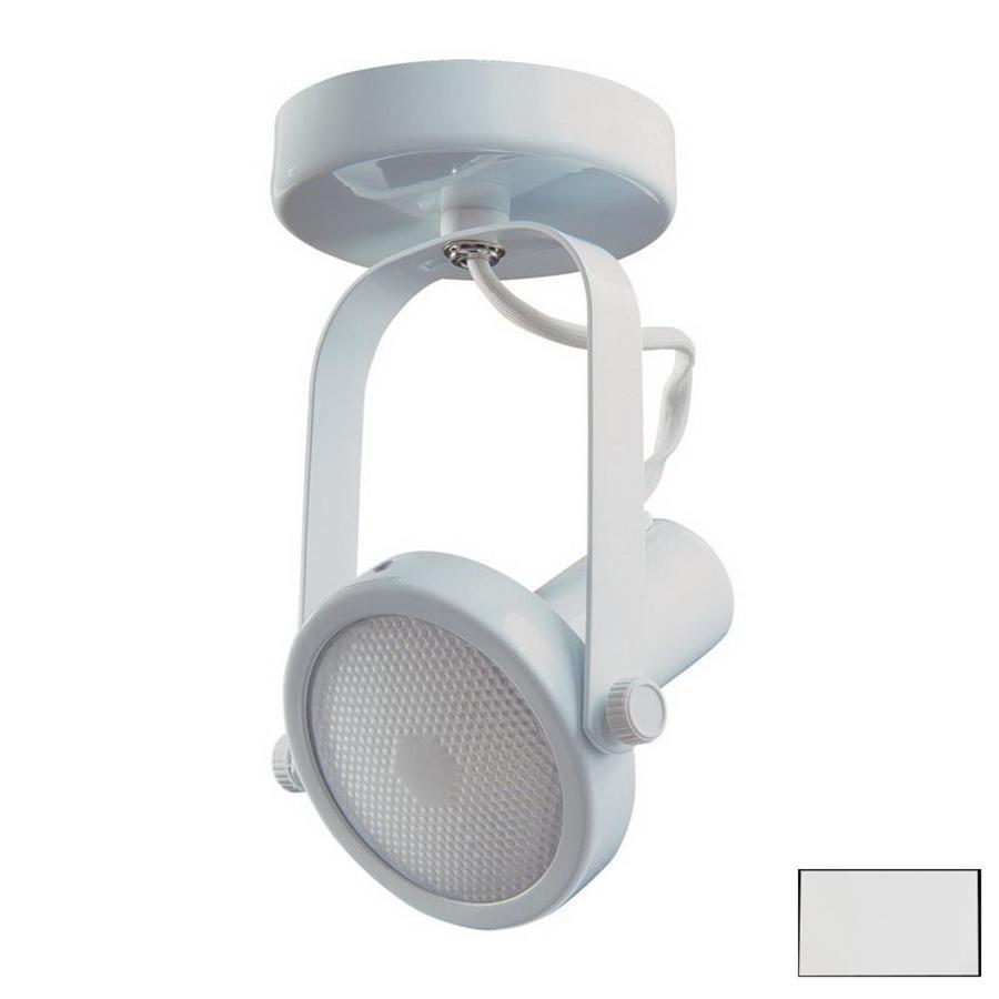 Kendal Lighting 4-in White Flush Mount Fixed Track Light Kit