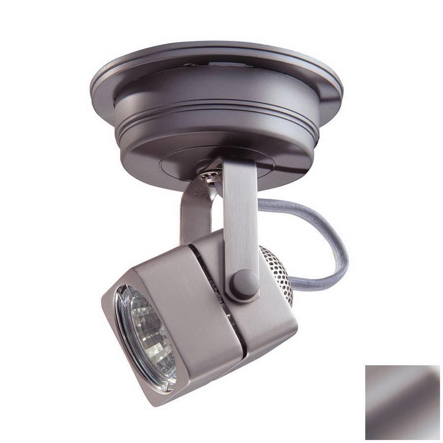 Kendal Lighting 1-Light Brushed Steel Flush-Mount Fixed Track Light Kit