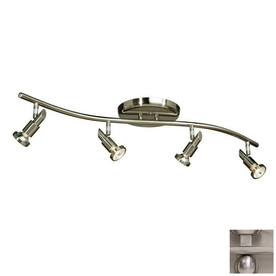 Artcraft Lighting Shuttle 4-Light 33.5-in Brushed Nickel Fixed Track Light Kit