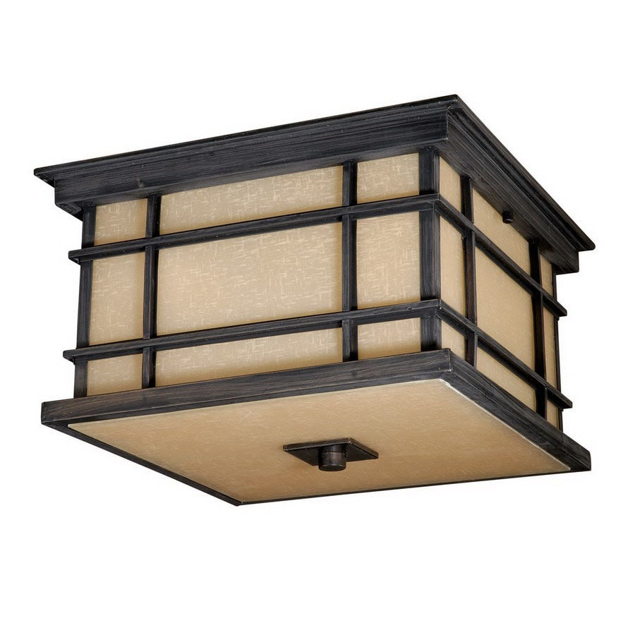 Cascadia Lighting 12-in W Architectural Bronze Ceiling Flush Mount