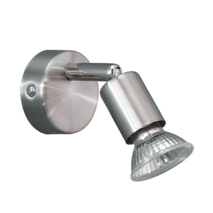 EGLO Buzz 5-in Nickel/Chrome Flush Mount Fixed Track Light Kit