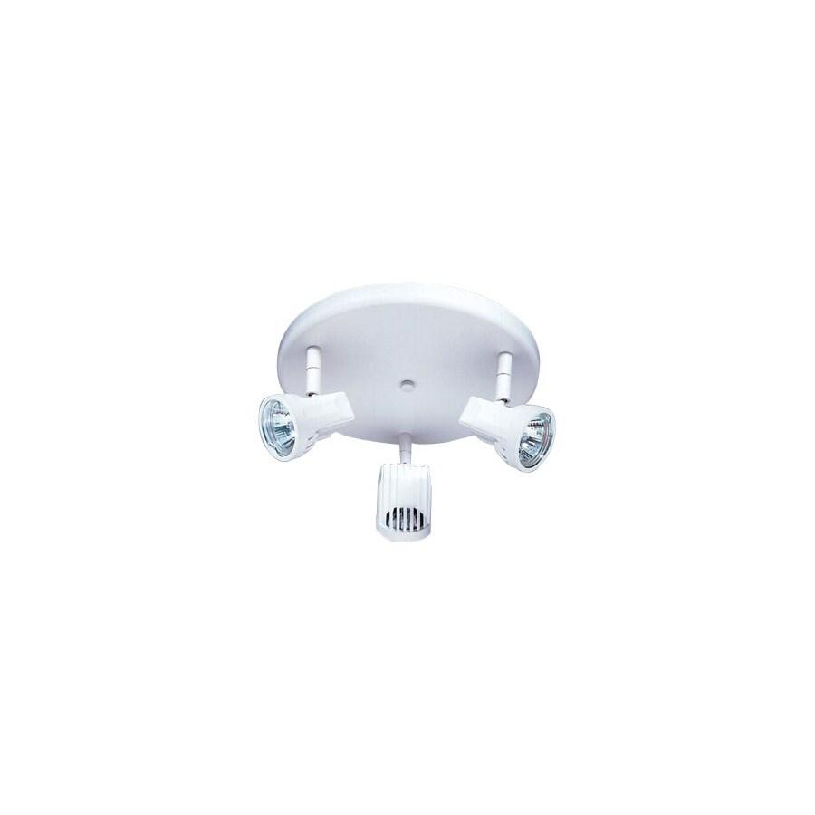 Nicor Lighting 3-Light 9-in White Flush Mount Fixed Track Light Kit