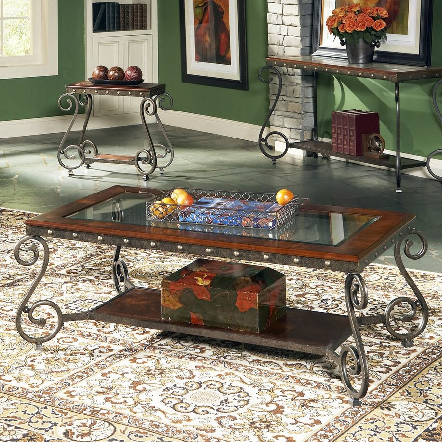 Steve Silver Company Ellery Glass Coffee Table