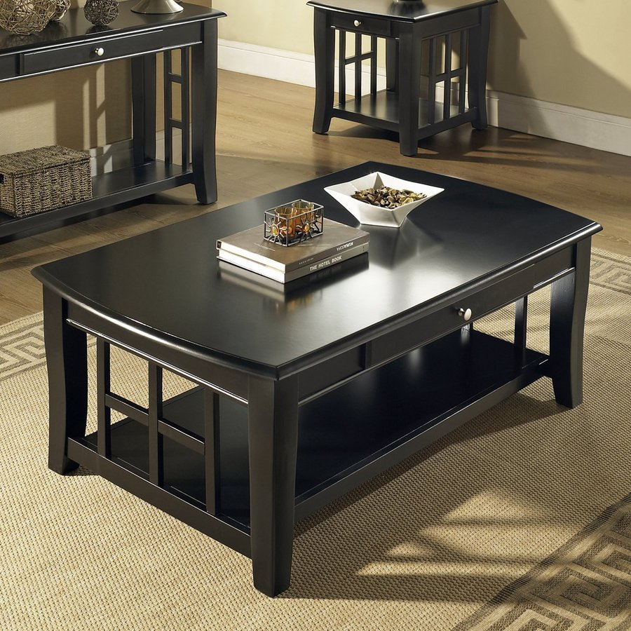 Shop steve silver company cassidy birch coffee table at Black wooden coffee tables