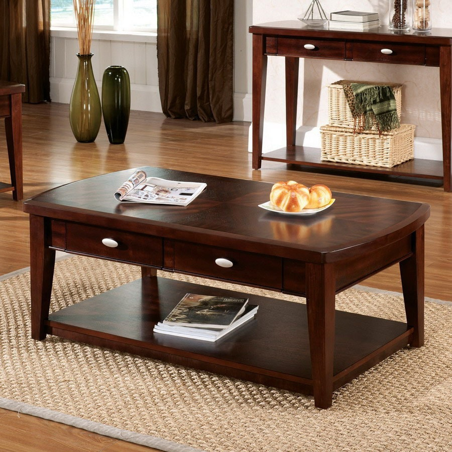 Steve Silver Company Huntington Dark Cherry Rectangular Coffee Table