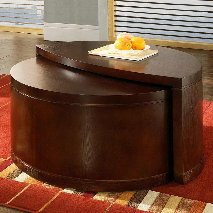 Half Circle Coffee Table Part - 21: Steve Silver Company Luna Cherry Half-Round Coffee Table