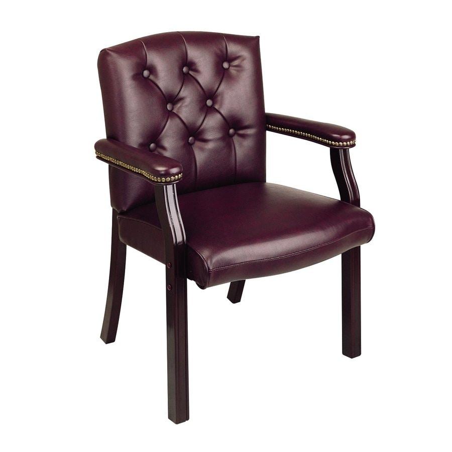 Office Star 1-Piece Worksmart Jamestown Oxblood/Mahogany Reception Chair