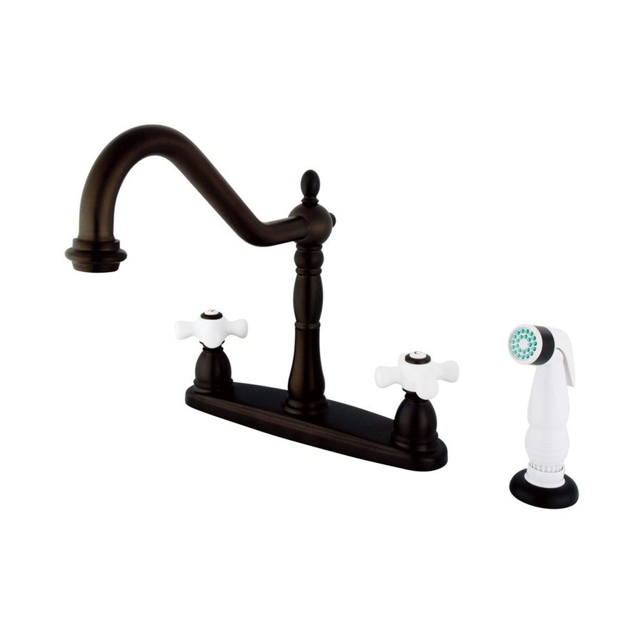 Elements of Design New Orleans Oil-Rubbed Bronze 2-Handle High-Arc Kitchen Faucet