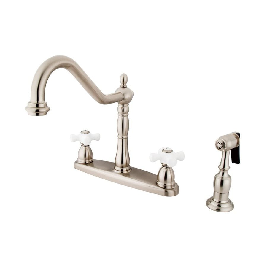 Elements of Design New Orleans Satin Nickel 2-Handle High-Arc Kitchen Faucet