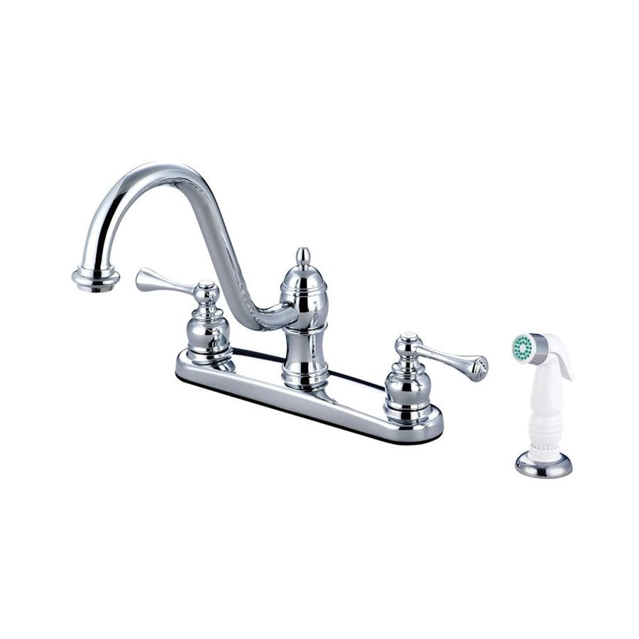 Elements of Design St. Louis Chrome 2-Handle High-Arc Kitchen Faucet