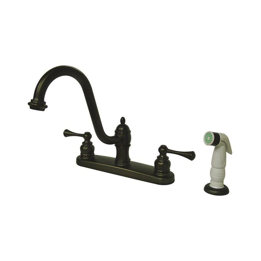Elements of Design St. Louis Oil-Rubbed Bronze 2-Handle Deck Mount High-Arc Kitchen Faucet