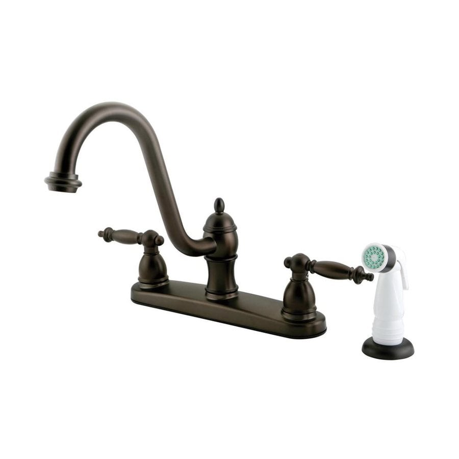 Elements of Design Templeton Oil-Rubbed Bronze 2-Handle High-Arc Kitchen Faucet