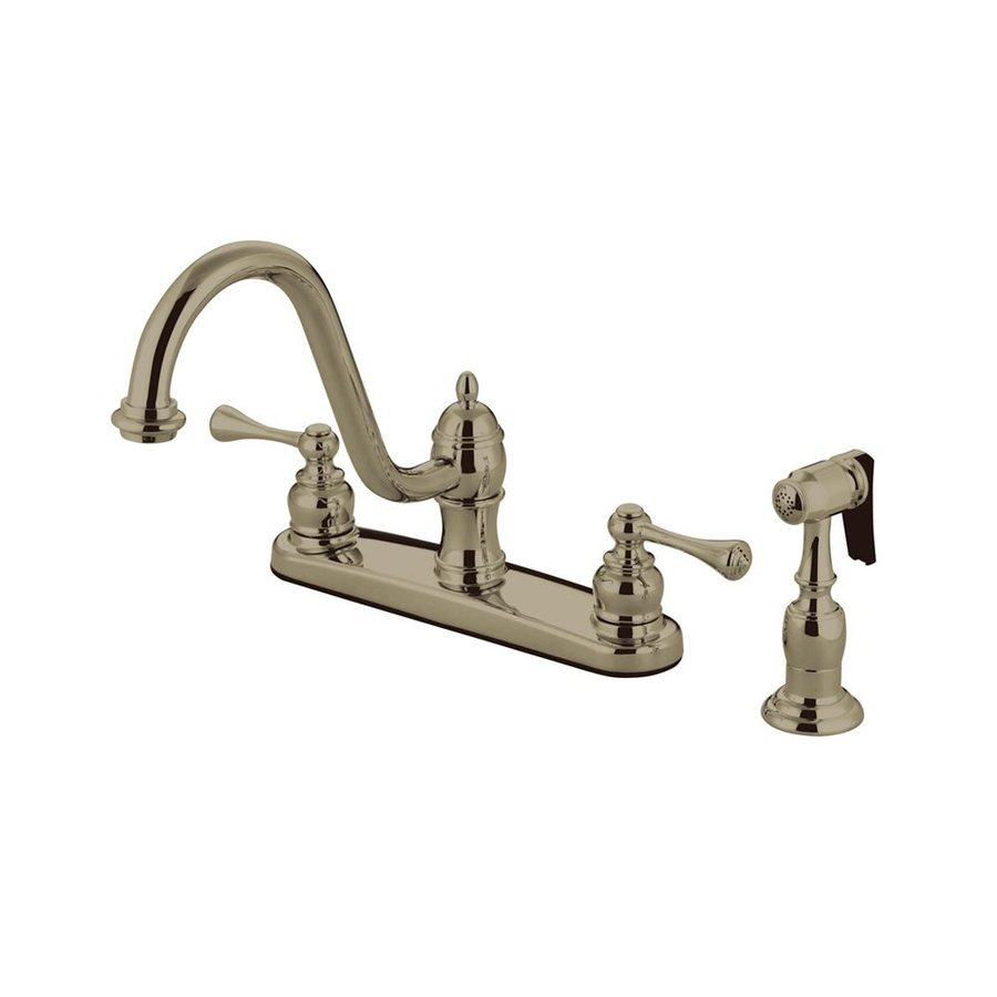 Elements of Design St. Louis Satin Nickel 2-Handle High-Arc Kitchen Faucet