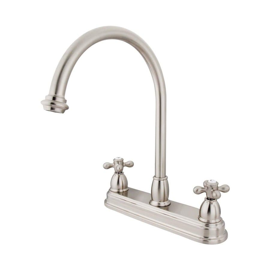 Elements of Design Chicago Satin Nickel 2-Handle High-Arc Kitchen Faucet