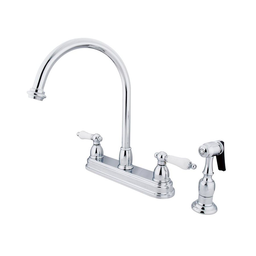 Elements of Design Chicago Chrome 2-Handle High-Arc Kitchen Faucet