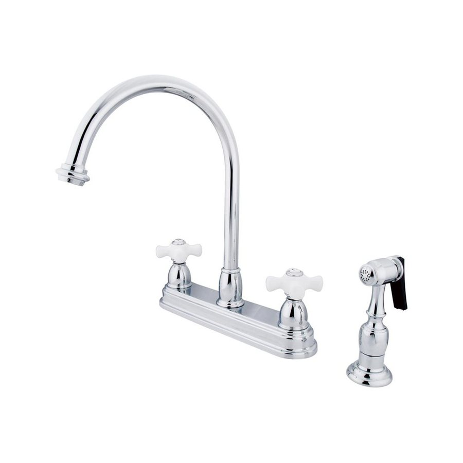 Shop Elements Of Design Chicago Chrome 2 Handle High Arc Kitchen Faucet At