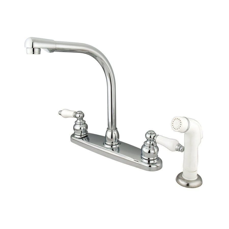 Elements of Design Victorian Chrome 2-Handle High-Arc Kitchen Faucet
