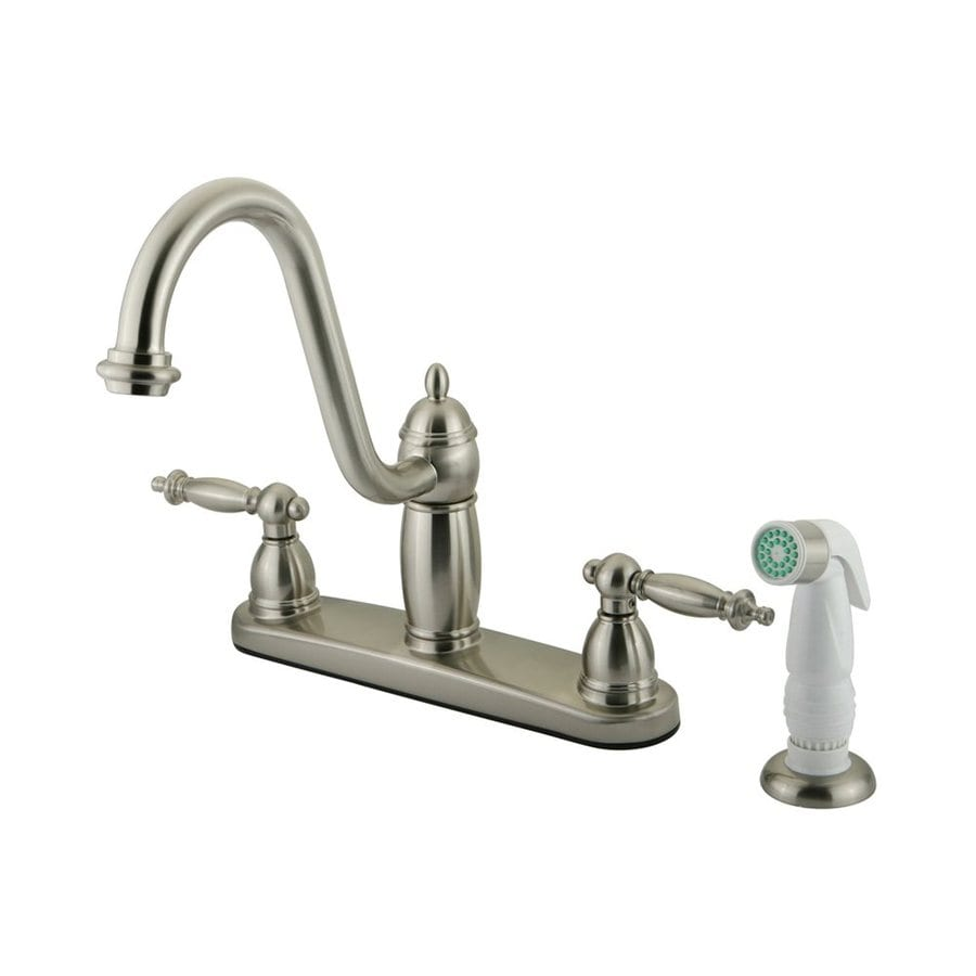 Elements of Design Templeton Satin Nickel 2-Handle High-Arc Kitchen Faucet
