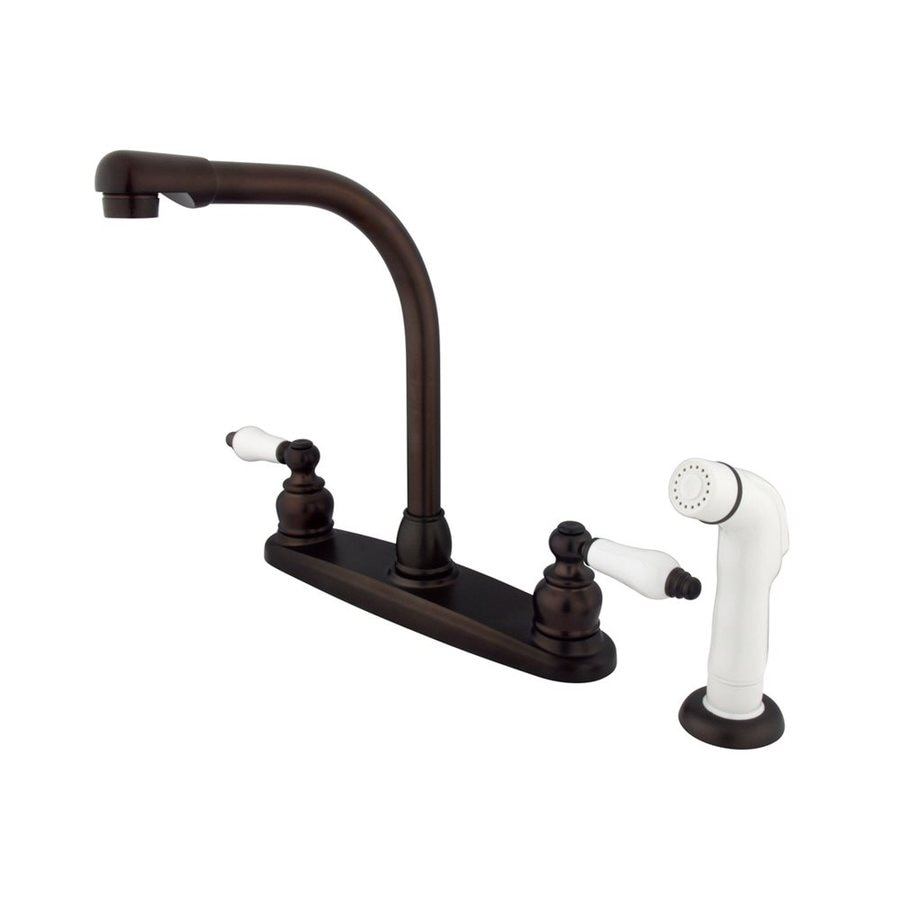 Elements of Design Victorian Oil-Rubbed Bronze 2-Handle Deck Mount High-Arc Kitchen Faucet