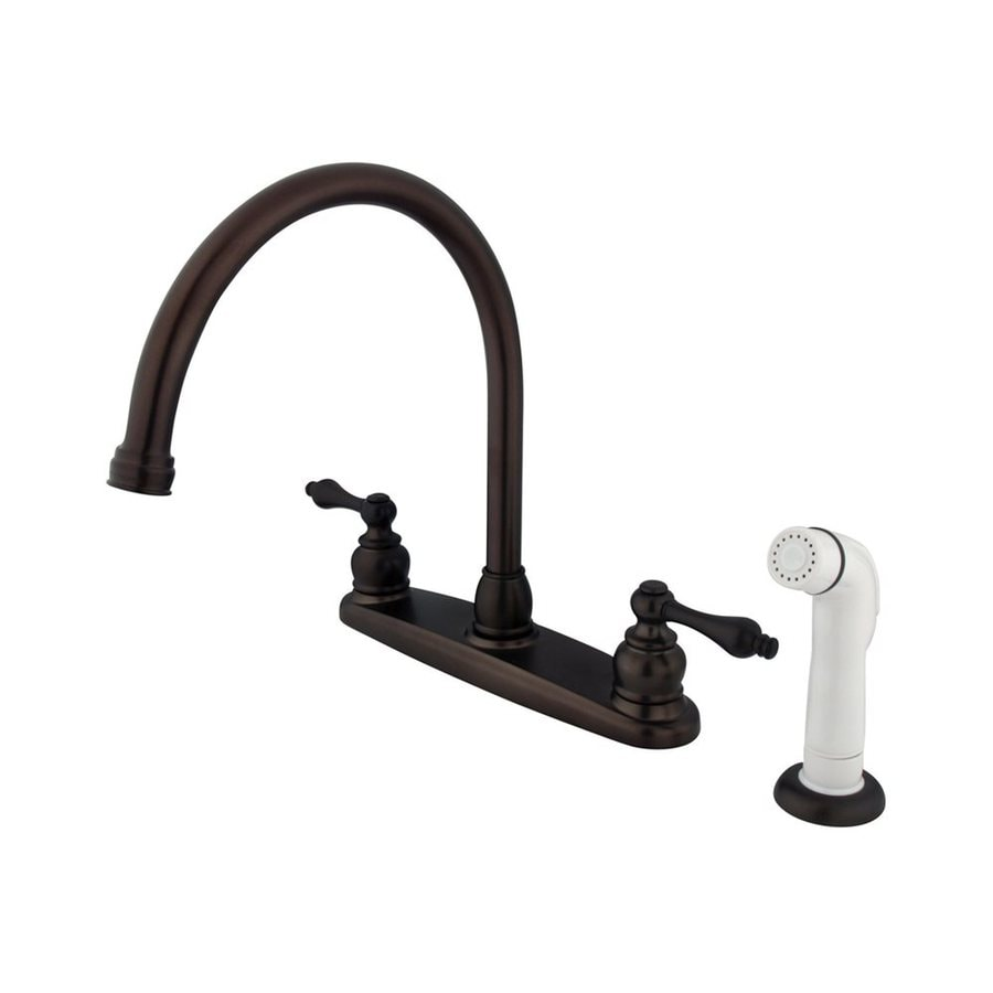 Elements of Design Victorian Oil-Rubbed Bronze 2-Handle High-Arc Kitchen Faucet