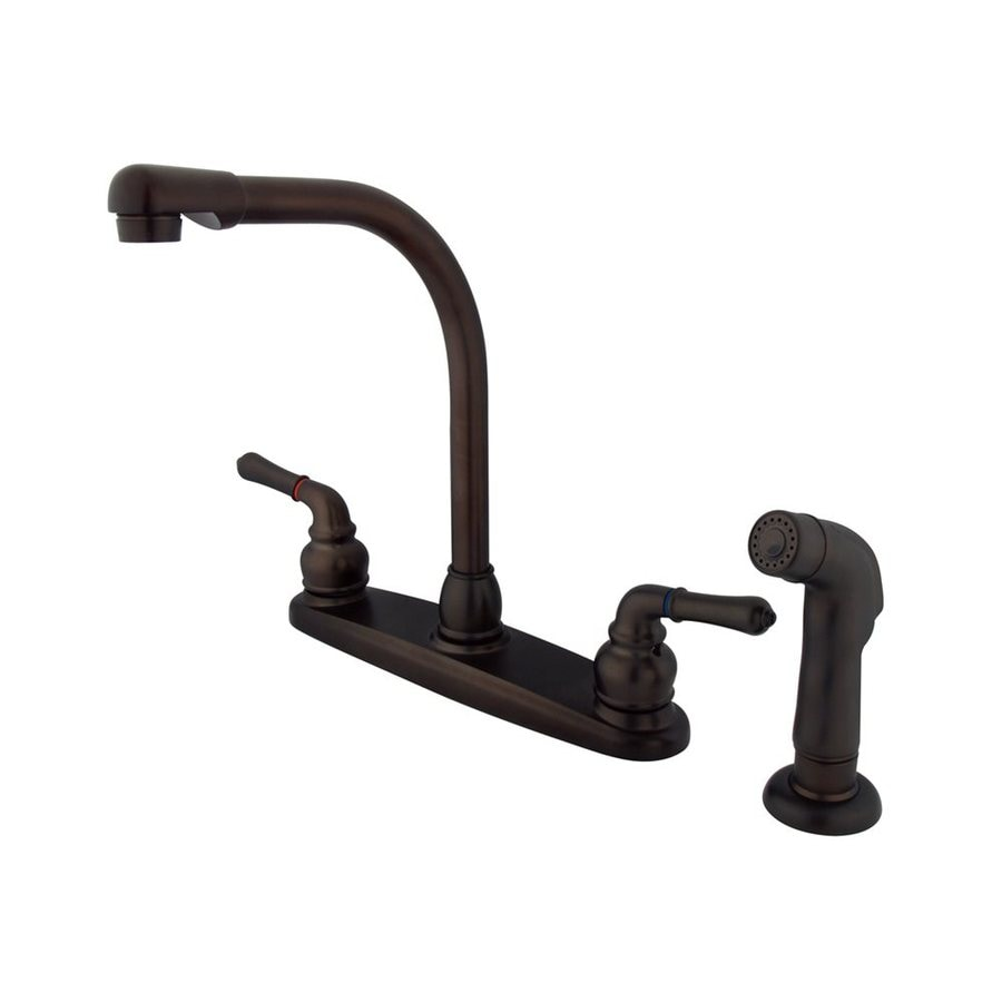 Elements of Design Magellan Oil-Rubbed Bronze 2-Handle High-Arc Kitchen Faucet
