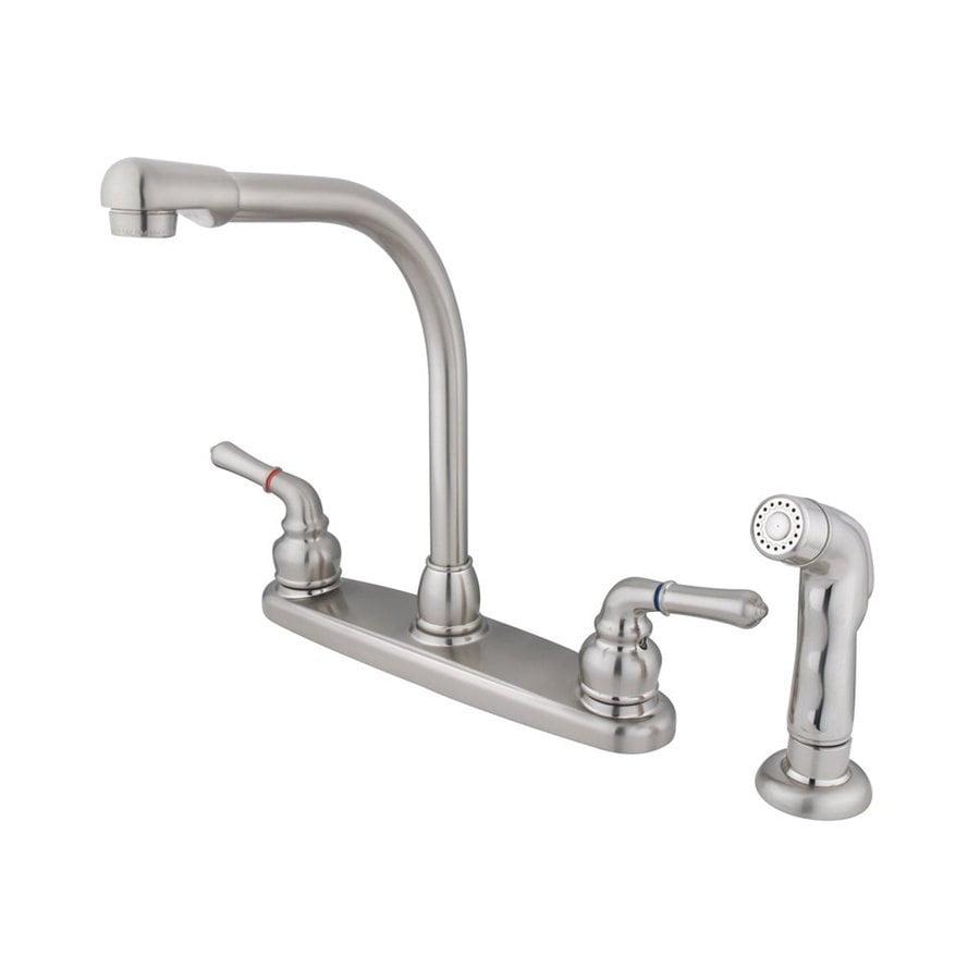 Elements Of Design Satin Nickel High Arc Kitchen Faucet