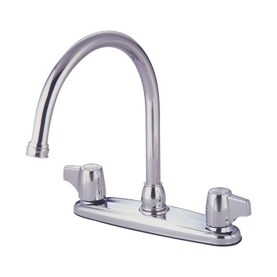 Elements of Design Chrome 2-Handle Deck Mount High-Arc Kitchen Faucet