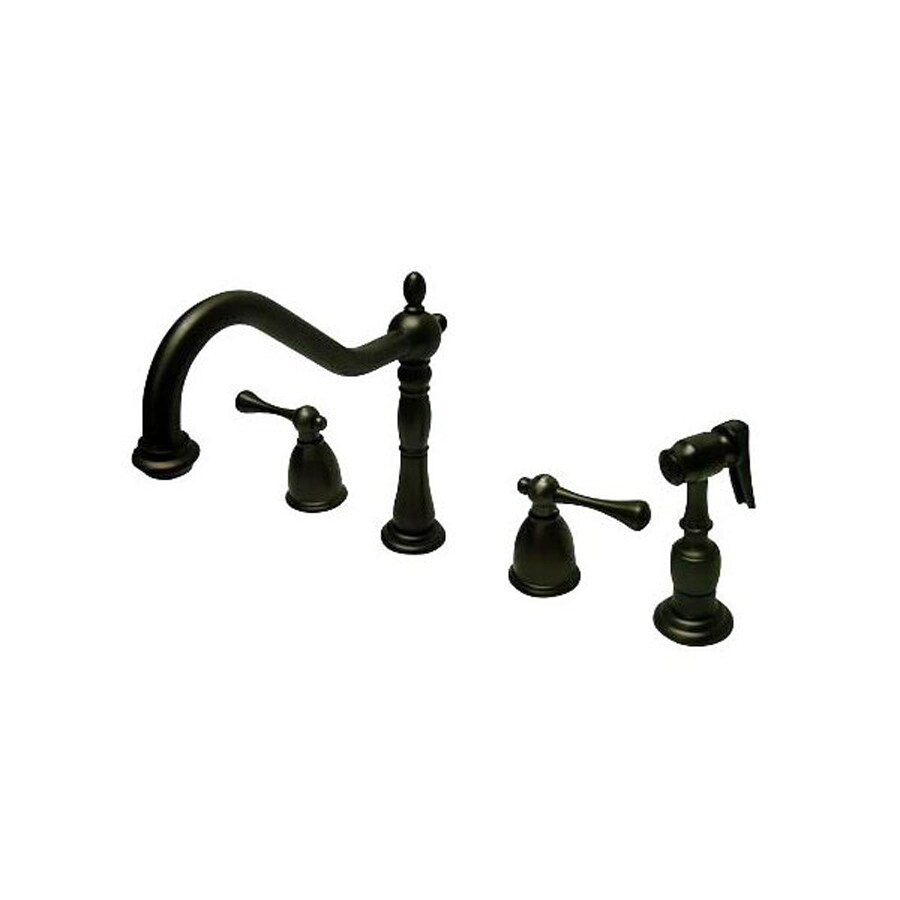 Elements of Design English Country Oil-Rubbed Bronze 2-Handle High-Arc Kitchen Faucet with Side Spray