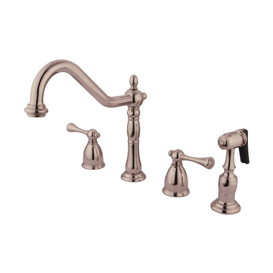 Elements of Design English Country Satin Nickel 2-Handle High-Arc Kitchen Faucet