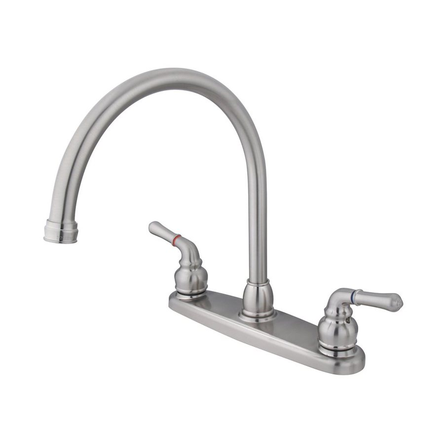 Elements of Design Magellan Satin Nickel 2-Handle High-Arc Kitchen Faucet