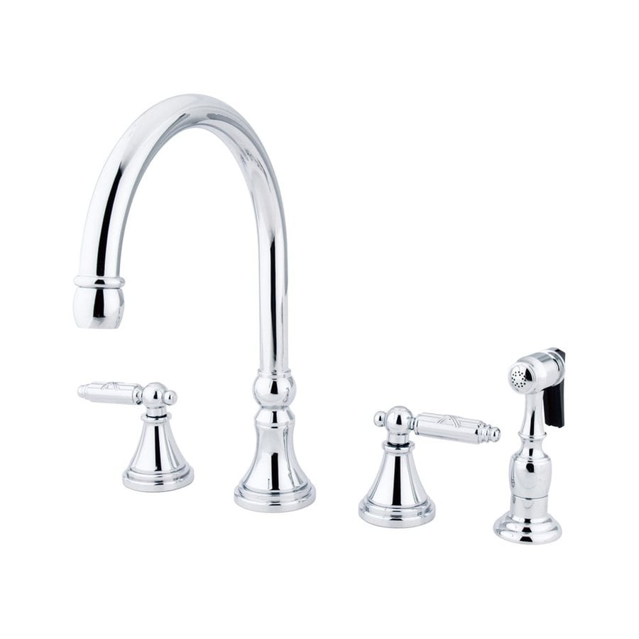 Elements of Design Chrome 2-Handle High-Arc Kitchen Faucet