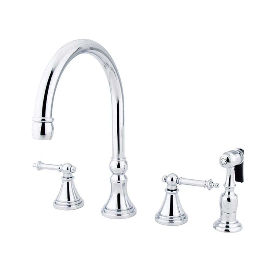 Elements of Design Tuscany Chrome 2-Handle Deck Mount High-Arc Kitchen Faucet