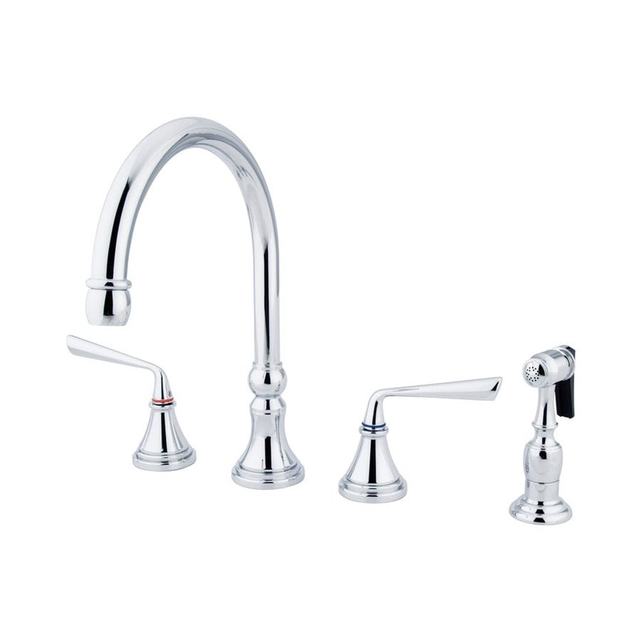 Elements of Design Silver Sage Chrome 2-Handle High-Arc Kitchen Faucet with Side Spray
