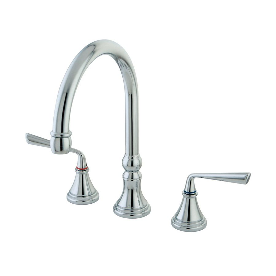 Elements of Design Silver Sage Chrome 2-Handle High-Arc Kitchen Faucet