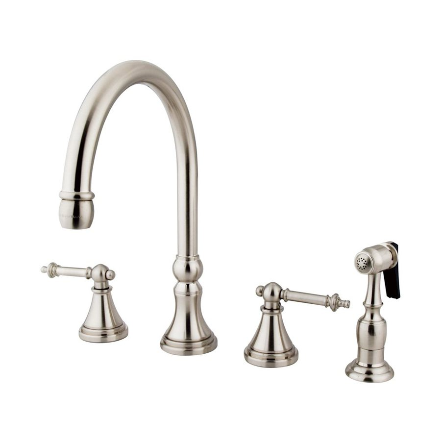Elements of Design Tuscany Satin Nickel 2-Handle High-Arc Kitchen Faucet