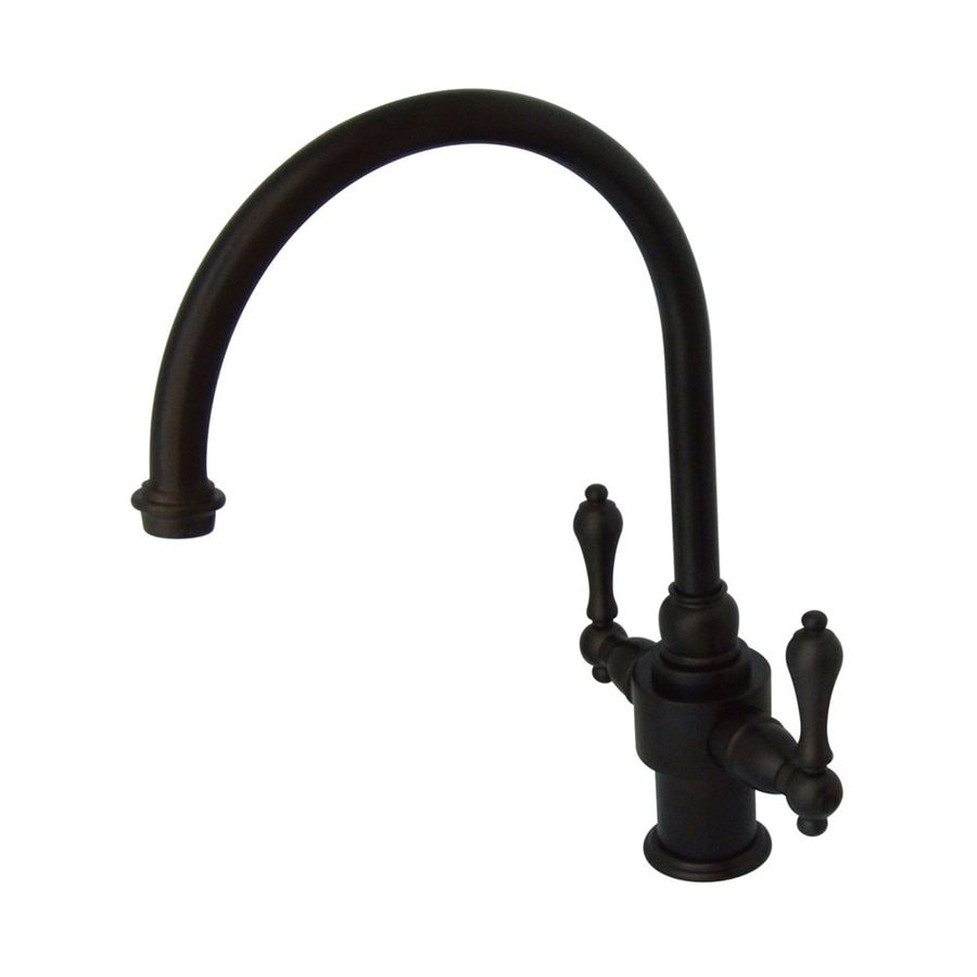 Elements of Design English Country Oil-Rubbed Bronze 2-Handle Deck Mount High-Arc Kitchen Faucet