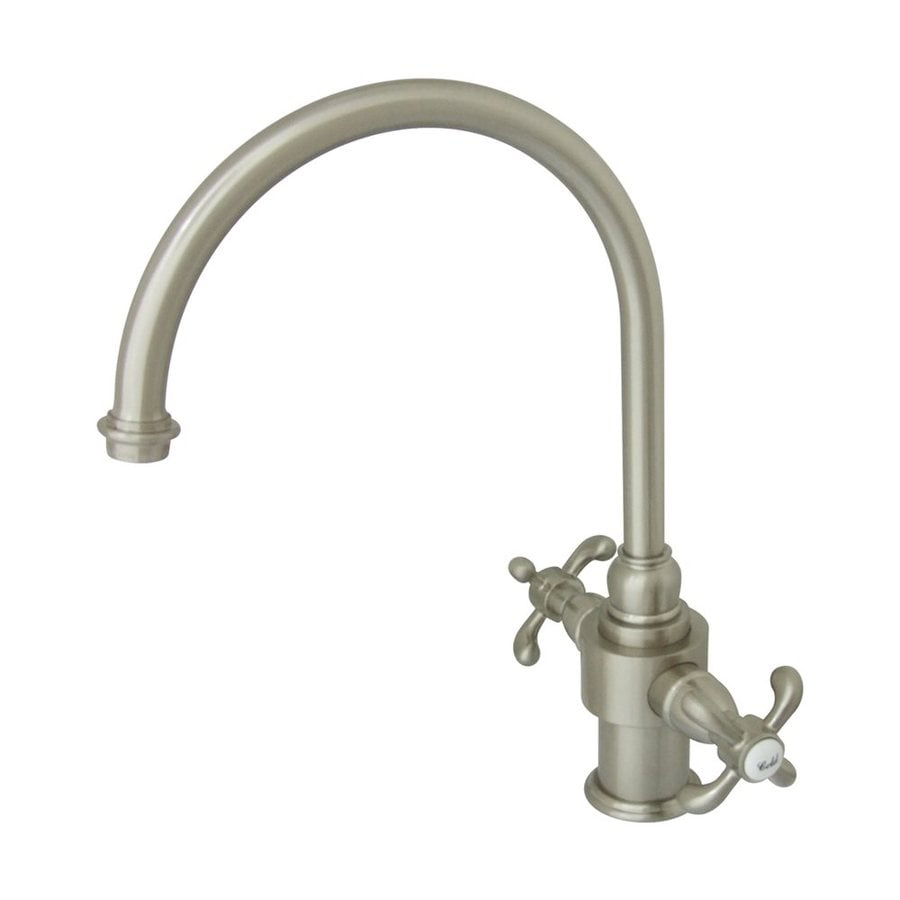 Elements of Design French Country Satin Nickel 2-Handle High-Arc Kitchen Faucet