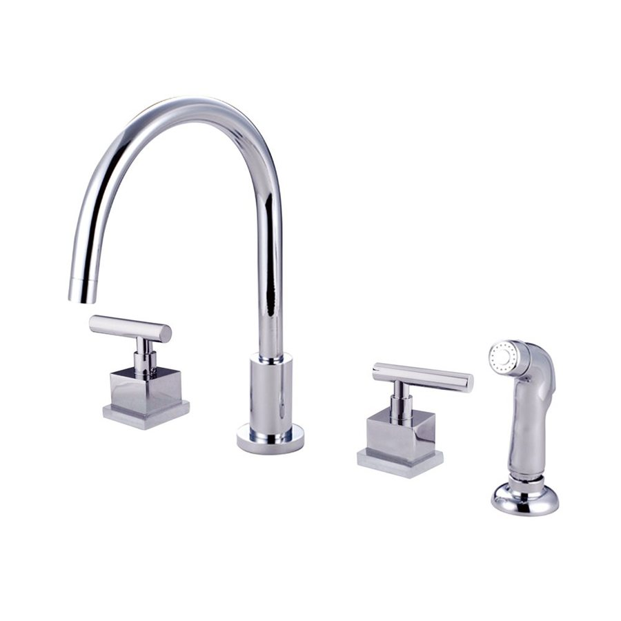 chrome kitchen faucets shop elements of design polished chrome 2 handle deck 11000