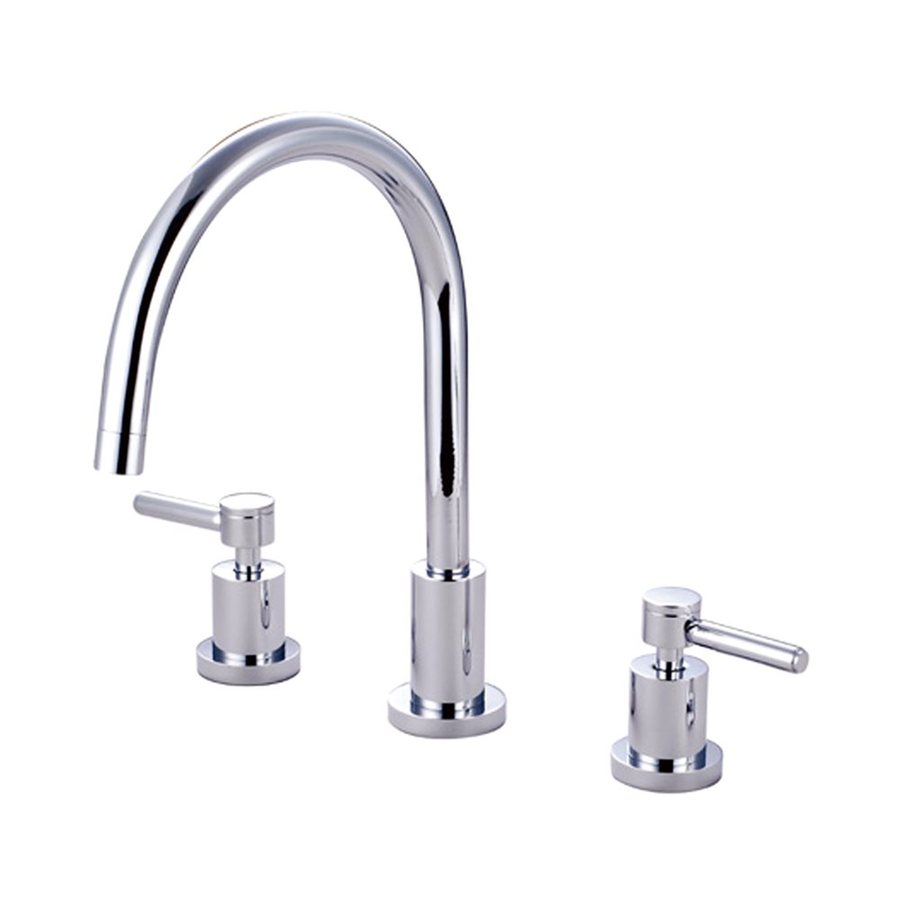 Elements of Design Concord Chrome 2-Handle Deck Mount High-Arc Kitchen Faucet