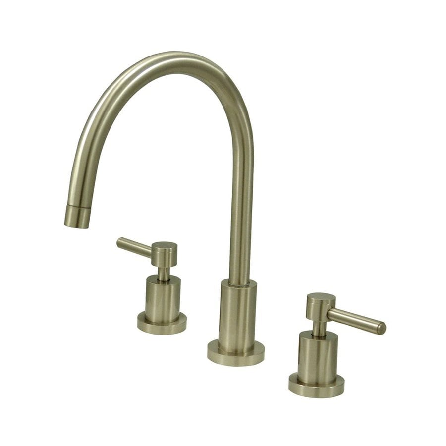 Elements of Design Concord Satin Nickel 2-Handle High-Arc Kitchen Faucet
