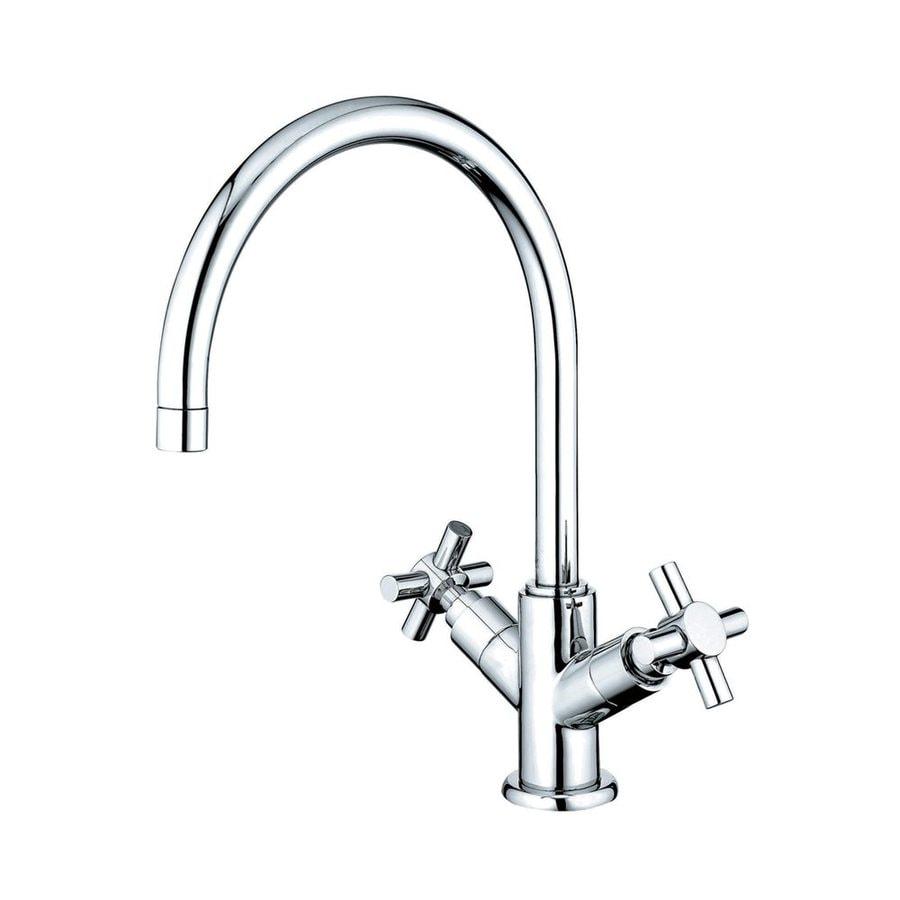 Elements of Design Concord Chrome 2-Handle High-Arc Kitchen Faucet