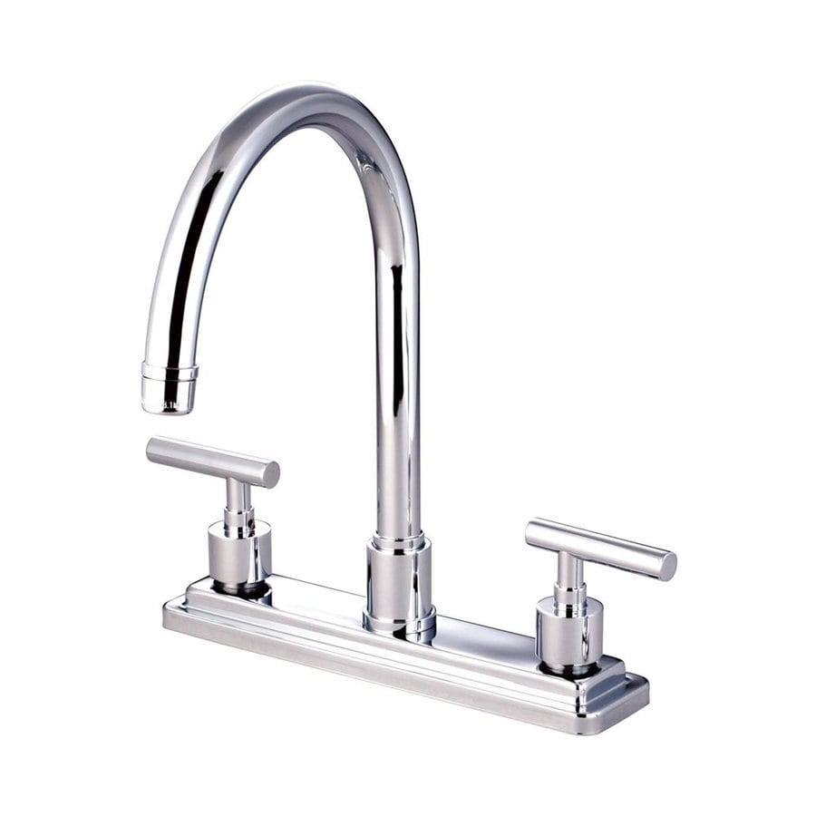 Elements of Design Manhattan Polished Chrome 2-Handle High-Arc Kitchen Faucet
