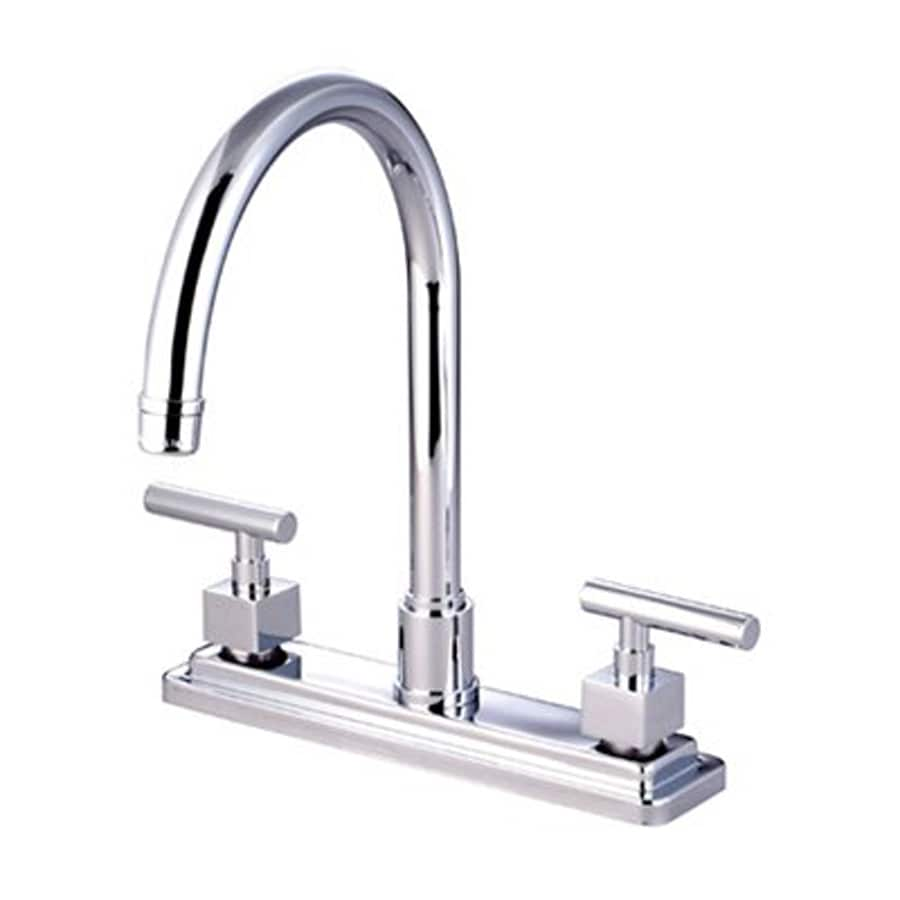 Elements of Design Claremont Chrome 2-Handle High-Arc Sink/Counter Mount Kitchen Faucet