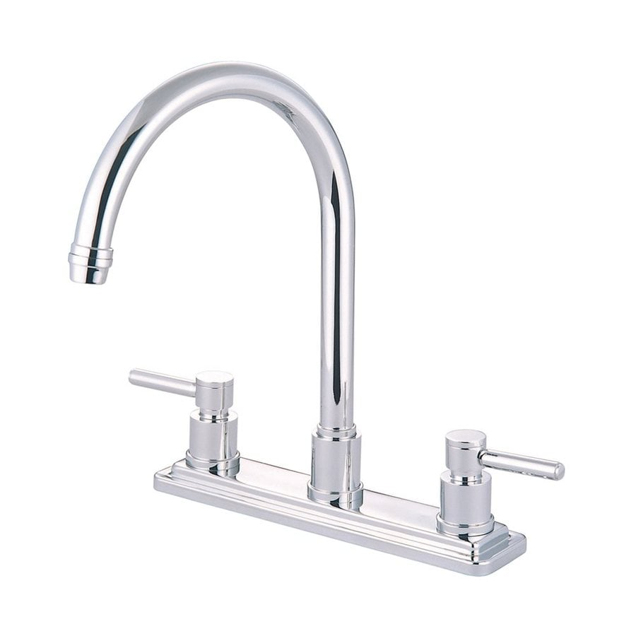Elements of Design Concord Chrome 2-Handle High-Arc Sink/Counter Mount Kitchen Faucet