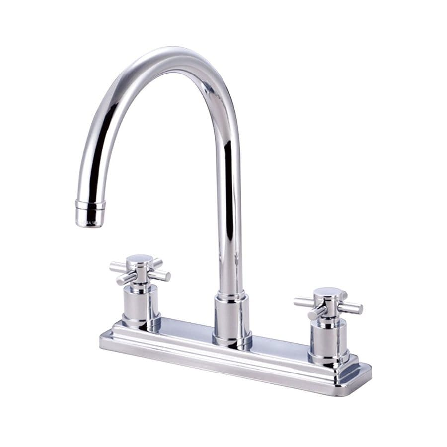 Elements of Design Concord Chrome 2-Handle High-Arc Kitchen Faucet