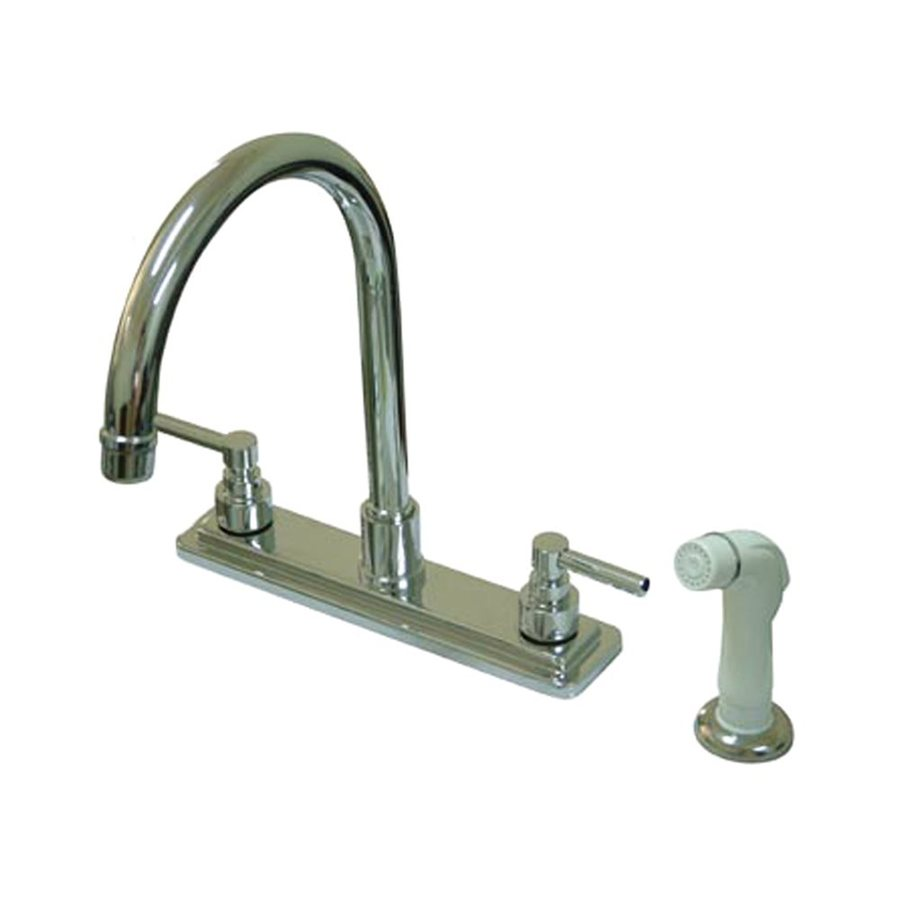 Elements of Design Tampa Chrome 2-Handle High-Arc Kitchen Faucet with Side Spray
