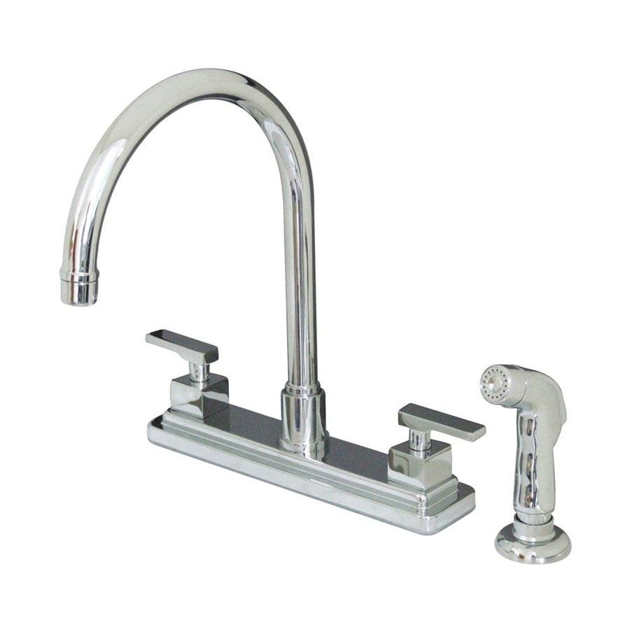 Elements of Design Concord Chrome 2-Handle Deck Mount High-Arc Kitchen Faucet