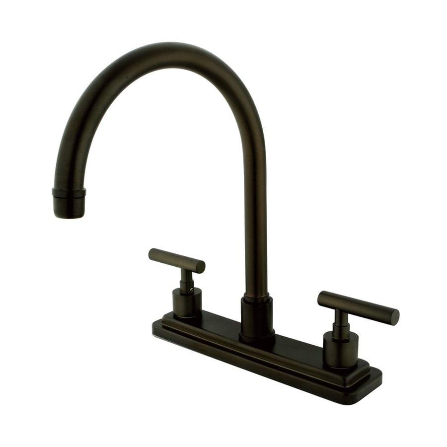 Elements of Design Manhattan Oil-Rubbed Bronze 2-Handle Deck Mount High-Arc Kitchen Faucet